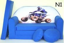 Dětská rozkládací pohovka modra