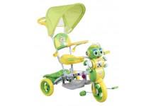 Dětská tříkolka s košíkem  mravenec zeleny