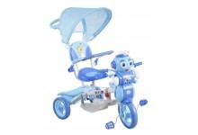 Dětská tříkolka s košíkem  mravenec modry