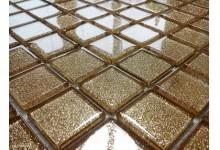 Mozaika Skleněná s brokátem ZLATÁ